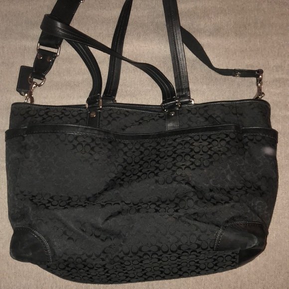 36122863a Coach Bags | Sale Black Big Purse | Poshmark